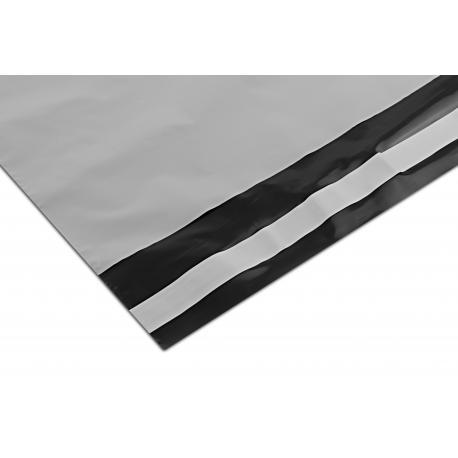 Foliopaki kurierskie 225x325+50mm 22,5x32,5+5cm 0,04 białe / czarne 100szt