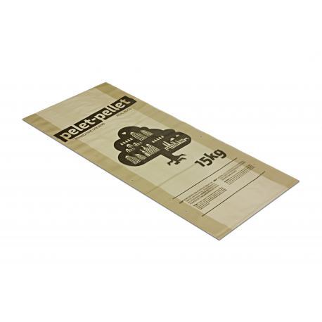 Worki foliowe na pellet z nadrukiem 35+2x5/80cm 45x80cm 0,08 reg słomka 50 / 100 / 500szt