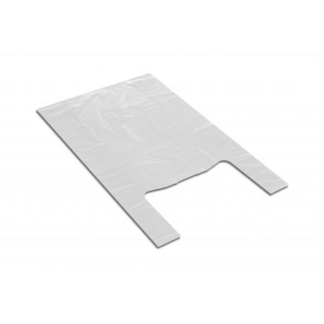 Reklamówki jednorazowe 28+2x7/50cm 42x50cm 0,015 100 / 200 / 2000szt białe HDPE