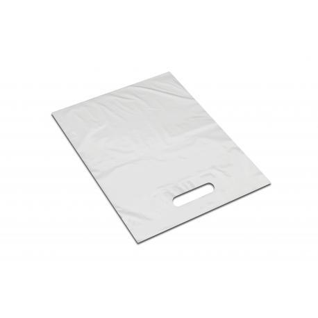 Torby Reklamowe 600x500mm 60x50cm LDPE 0,06 białe / czarne