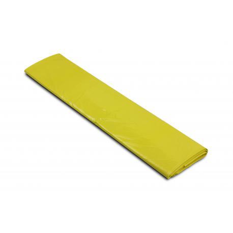 Worki na śmieci - plastik 700x1100mm 70x110cm 0,04 żółte 120L 25szt