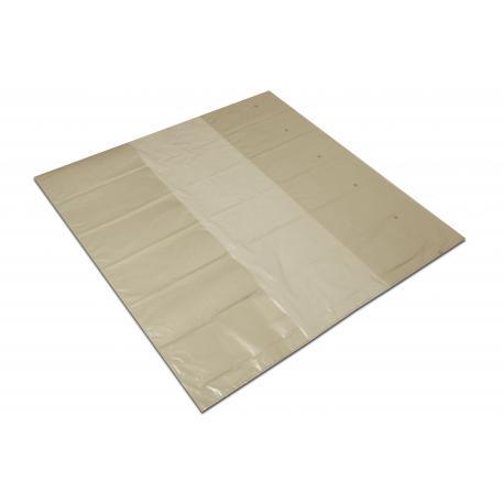 Kaptur foliowy 125+2x43/200cm LDPE regranulat słomka 0,08 10szt