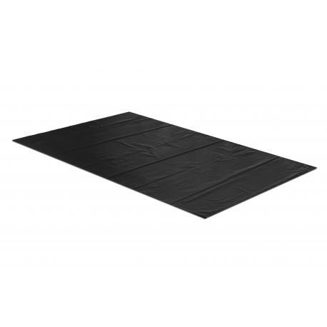 Torby worki foliowe 80+2f10/120 cm 100x120 cm 0,08 czarne 25 szt