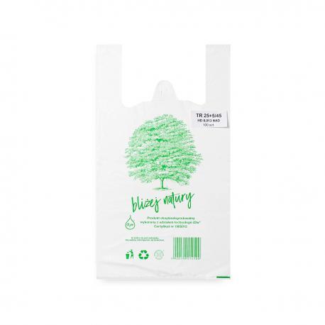 Reklamówki ekologiczne HDPE BIO EKO ECO 35x45cm 0,015 100szt