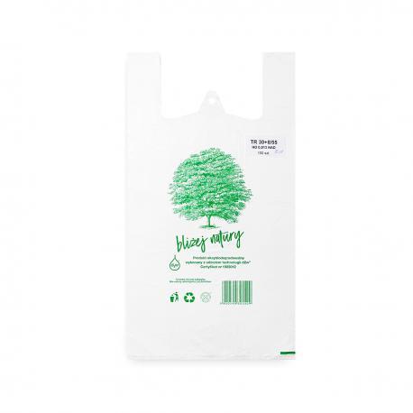 Reklamówki ekologiczne HDPE BIO EKO ECO 46x55cm 0,015 100szt