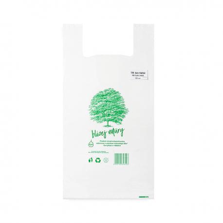 Reklamówki ekologiczne HDPE BIO EKO ECO 54x64cm 0,015 100szt