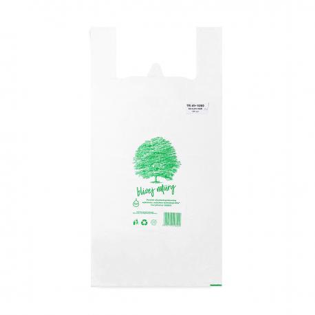 Reklamówki ekologiczne HDPE BIO EKO ECO 60x80cm 0,015 100szt