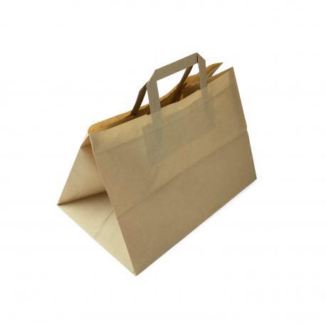 Torby papierowe z uchwytem papierowym cateringowe 320x220x250 10 / 250 szt