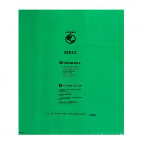 Worki ekologiczne na szkło Zielone 60L 10szt