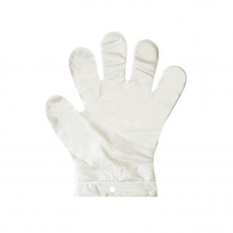 Rękawice foliowe rękawiczki jednorazowe L 100 szt.