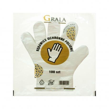 Rękawice foliowe rękawiczki jednorazowe HDPE GRALA 1000 szt.