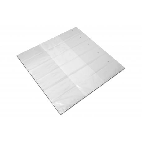 Kaptur foliowy 125+2x55/100cm LDPE termokurcz 0,1 10szt